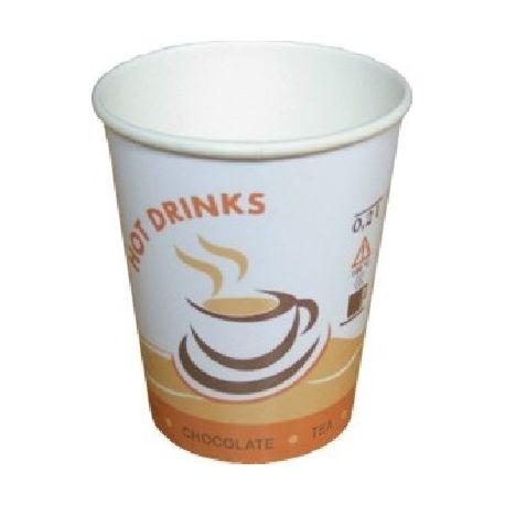Papierový pohár s potlačou Hot Drinks 150ml (100 ks)