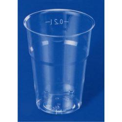 Pohár kryštáľ 0,2 l priemer 73mm (50 ks)