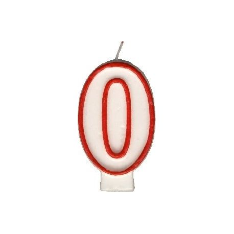 Číslová sviečka č.0 - 75 mm (1 ks)