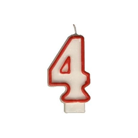 Číslová sviečka č.4 - 75 mm (1 ks)