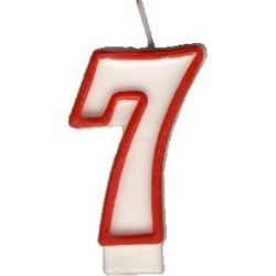 Číslová sviečka č.7 - 75 mm (1 ks)