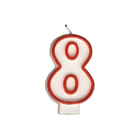 Číslová sviečka č.8 - 75 mm (1 ks)