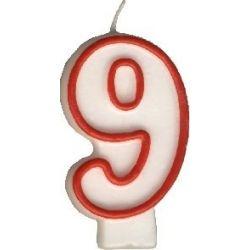 Číslová sviečka č.9 - 75 mm (1 ks)