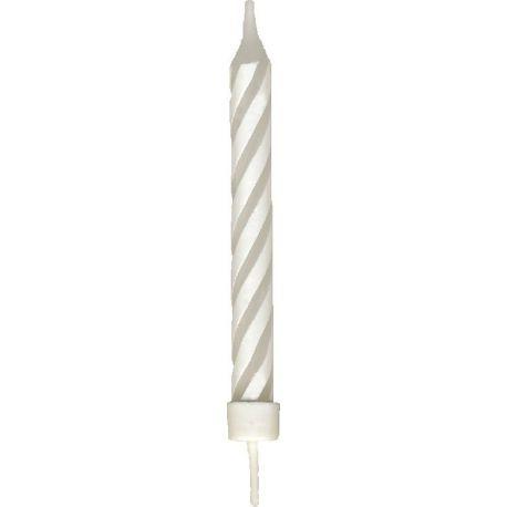 Narodeninové sviečky veľké so stojančekom 80 mm (8 ks)