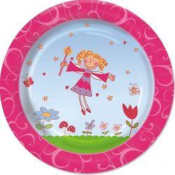 Papierový tanier 23 cm PRINCEZNÁ (10ks)