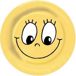 Papierové taniere Ø 23 cm SMILEY (10 ks)