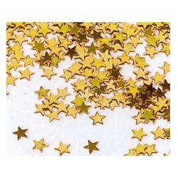 Konfety lesklé HVIEZDY zlaté priemer 1 cm 15 g (1 ks)