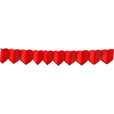 Papierová girlanda SRDCIA 4 m (Ø 18 cm) (1 ks)