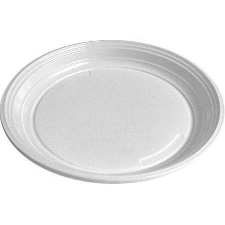 Tanier plytký biely (PP) 20,5 cm (100 ks)