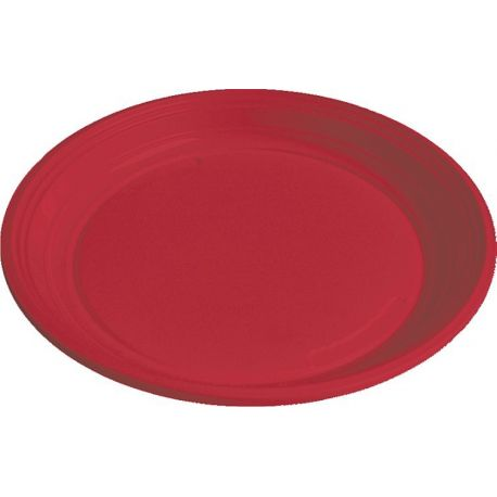 Tanier červený (PS) Ø 22 cm (10 ks)