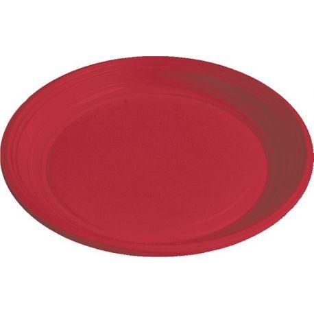 Tanier červený (PS) Ø 22 cm (30 ks)