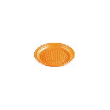 Tanier oranžový (PS) Ø 22 cm (30 ks)