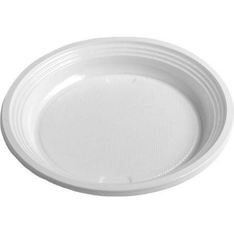 Tanier plytký, biely (PS) Ø 17 cm (100 ks)