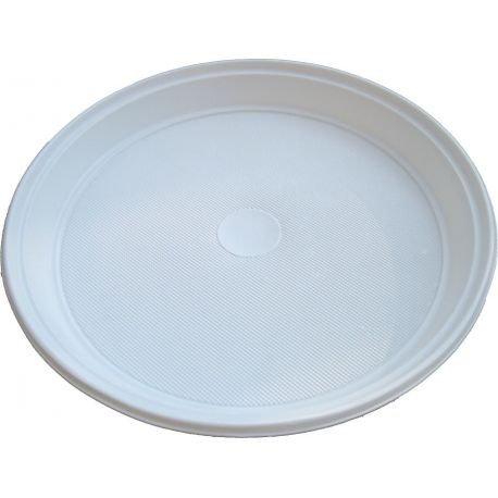 Tanier biely (PS) Ø 22 cm (100 ks)