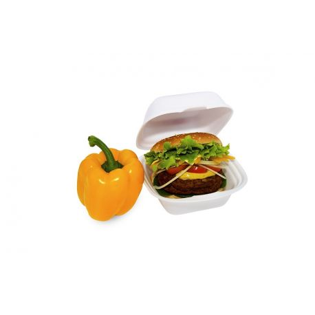 Box na hamburger veľký, biely 145 x 133 x 75 mm (125 ks)