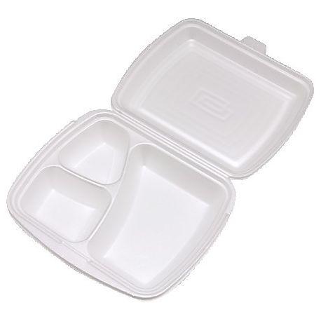 Menu box 3-dielny biely 241 x 207 x 69 mm (125 ks)