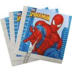 Obrúsky 2-vrstvé, 33x33cm Spiderman (20ks)