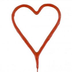 Prskavka v tvare srdca