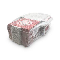 Krabica na pizzu z vlnitej lepenky (PAP) 20x20x3cm (100ks)