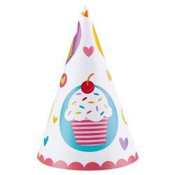 Párty klobúčiky cupcake (6ks)