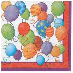 Obrúsky Balóny 2-vrstvé (16ks)