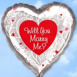 Will You Marry Me? 45cm