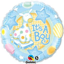 Balón Its a boy - so žirafou 45 cm