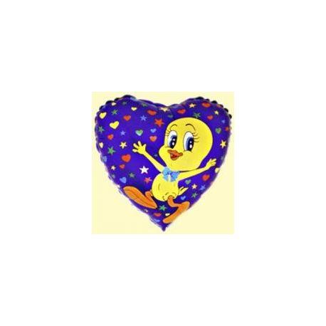 Balón Tweety s hviezdičkami