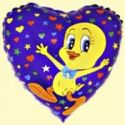Balón Tweety s hviezdami