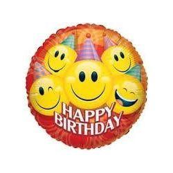 Balón Smajlík  Happy Birthday