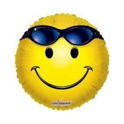 Balón Smajlík s okuliarmi