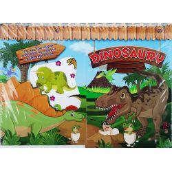 Dinosaury nálepky s omaľovánkami