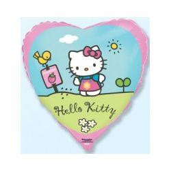Balón Hello Kitty v záhrade