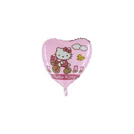 Balón Hello Kitty na bicykli