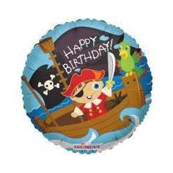 Balón Happy Birthday Pirát