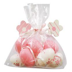 Veľkonočné vajíčka ružové 8ks