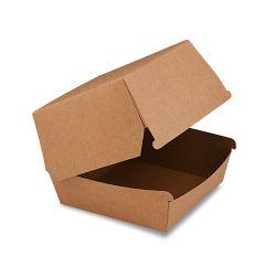 Box na hamburger hnedý, nepremastiteľný 50 ks