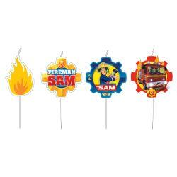 Sviečky Požiarnik Sam 4ks