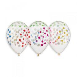 Balón s konfetami - farebné konfety