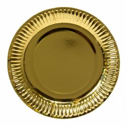 Papierový taier zlatý (PAP) priemer 23cm