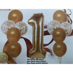 Balónový set 1 zlatý