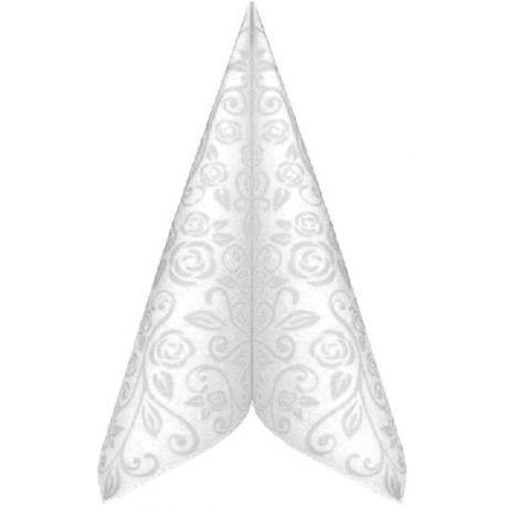 Servítky PREMIUM 40x40cm dekor R Biele 50ks