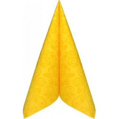 Servítky PREMIUM 40x40cm dekor R Žlté 50ks v Baleni