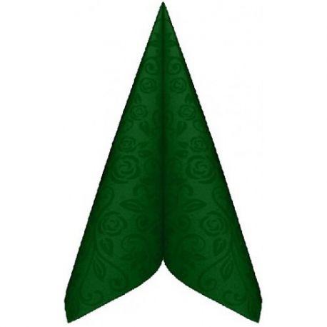 Servítky premium dekor 40x40 cm Tmavo Zelené 50ks