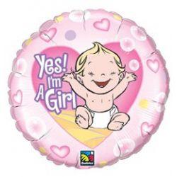 Balón Yes! Ím a girl 46cm