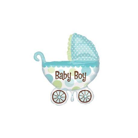 Balón Baby Boy kočík 79cm x 71cm