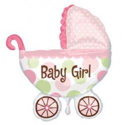 Balón baby Girl kočík 79cm x 71cm