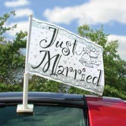 Svadobná vlajka na auto