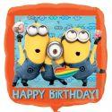 Balón Mimoň Happy Birthday