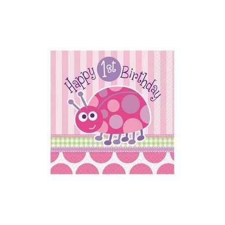 Servitky Happy Birthday lienka